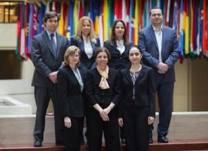 Back row: Bertrand Gruss, Bergljot Barkbu, Joana Pereira, Rabah Arezki. Front row: Luisa Zanforlin, Annalisa Fedelino, Lusine Lusinyan
