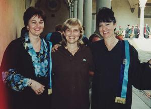 Friends (L-R) Marina Calloni, Luisa Zanchi, Lorella Cedroni