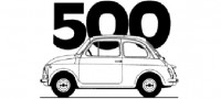 line drawing fiat 500